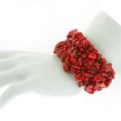 Red Chip Coral Bracelet (8