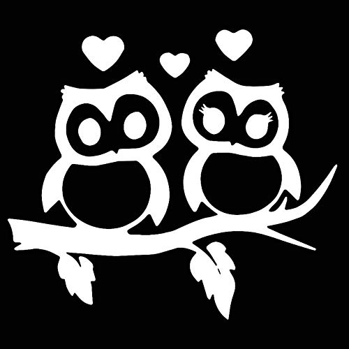 DecalDestination Owl Love Decal White Choose Size