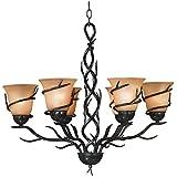 kenroy home 90900brz twigs 6light chandelier blackened bronze finish