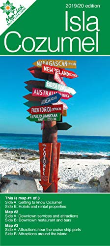 Cozumel Map & Travel Guide (MapChick's Can-Do Map & Travel Guides) (Cozumel Dive Map)
