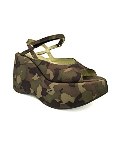 Camouflage Fornarina cm 350 Wedge Vintage with PEF1409 Camouflage Sandals 10 SnHgwZqn