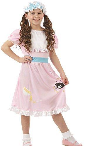 Girls Little Miss Muffet World Book Day Week Nursery Rhyme Fairy Tale Fancy Dress Costume Outfit (4-6 Years)