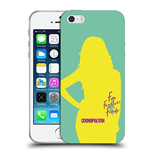 Official Cosmopolitan Cover Girl 5 Fun Fearless Female Soft Gel Case for Apple iPhone 5 / 5s / SE