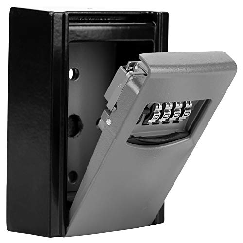 Asixx Caja de Llaves, Caja Fuerte Llaves, Caja de Seguridad para Llaves, con Cerradura de 4 Dígitos, para El Hogar,...