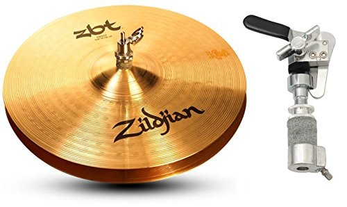 Zildjian ZBT 14 Inch Hi-Hat Cymbals with Gibraltar SCDC Hi-Hat Drop Clutch (Hat Hi Drop Clutch)