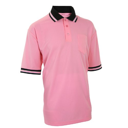 Adams USA Smitty Major League Style Short Sleeve Umpire Shirt with Front Chest Pocket (Pink, XXX-Large)