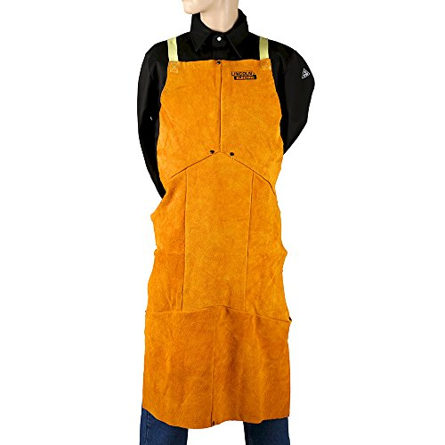 Lincoln Electric Brown One Size Flame-Resistant Leather Welding Apron by Lincoln Electric (Image #1)