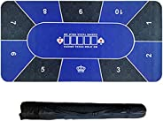 Poker Table Mat, Texas Hold'em Poker Table Cloth Game Table Mat Layouts for Poker Rubber Poker Tablec