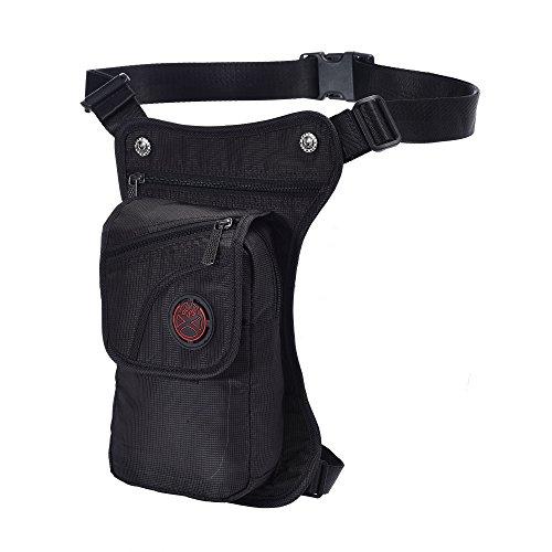 Military Tactical Drop Leg Bag,Waist Bag Thigh Packs Versipack for Riding Motorcycle Walking Cycling Vacation Man Women (Black)