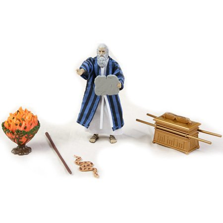 Biblequest Moses Action Figure (Moses And The Burning Bush Story For Kids)