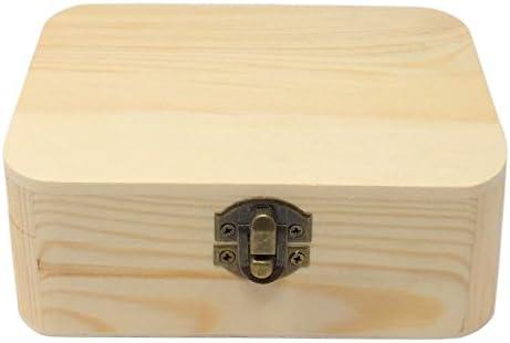 C1 Caja de Madera Rectángulo Redondeado: Amazon.es: Hogar