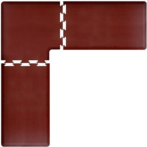 WellnessMats PuzzlePiece Collection L Series Burgundy Anti-Fatigue Mat, 8 x 8 Foot by WellnessMats