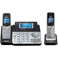 Vtech DS6151 DECT6.0 2-Line Cordless Phone System with 1 DS6101 Cordless Handset, Caller ID, Answering Machine