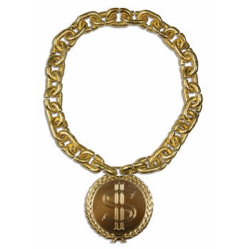 Old School Oversize Gold Bling Medallion Necklace With Chain - Lil Wayne Costume
