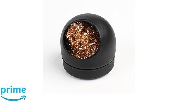 Sourcingmap a13071700ux0045 - Soldar la punta de hierro con bolas de esponja limpia la boquilla de cable de limpieza w soporte metálico: Amazon.es: ...