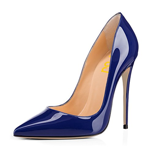 Fsj Vrouwen Formele Wees Teen Pompen Hoge Hak Stiletto Sexy Slip Op Kleding Schoenen Maat 4-15 Ons Blauw