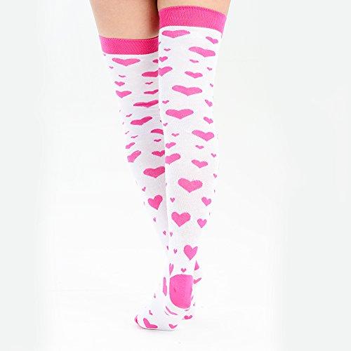 Rising Los mujer con rom corazones de calcetines qxCAO6R