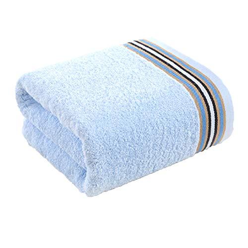 SHUI NIU Toalla de baño-hogar Textil algodón Toalla de baño Toalla de baño Azul Solo 137 * 68 cm (Color : Azul, Tamaño :...