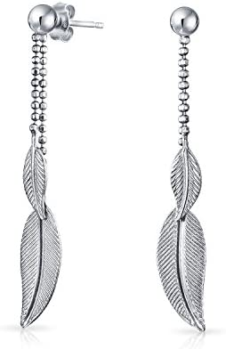 Fine Feathered Wise Owl Boucles d/'oreilles 925 Sterling Silver Dangle Corona Sun Jewelry