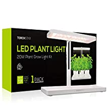 TORCHSTAR Indoor Garden Kit, Herb & Kitchen Garden Grow Light, Auto-Timer Function, Height Adjustable CRI 95 Real Color for Plant Enthusiasts, Rosemary, Pots & Plants Not Included, Pack of 1