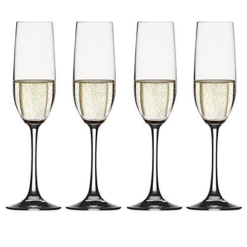 no Grande Sparkling Wine Champagne Flute (Set of 4), Clear (Vino Grande Champagne Flute)