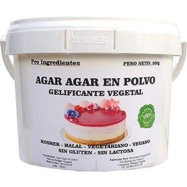 Agar Agar en Polvo 500g - Gelificante Vegetal: Amazon.es: Alimentación y bebidas