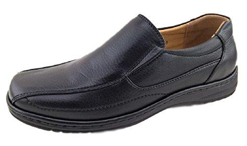 Voordeel Dragen Maximus Heren Jurk Schoenen Instappers Loafer Zwart