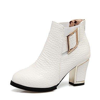 Heart M Damen Schuhe Kunstleder Winter Modische Stiefel Stiefeletten  Stiefel Blockabsatz Runde Zehe Booties Stiefeletten Schnalle Reißverschluss 66b3ccb1b7