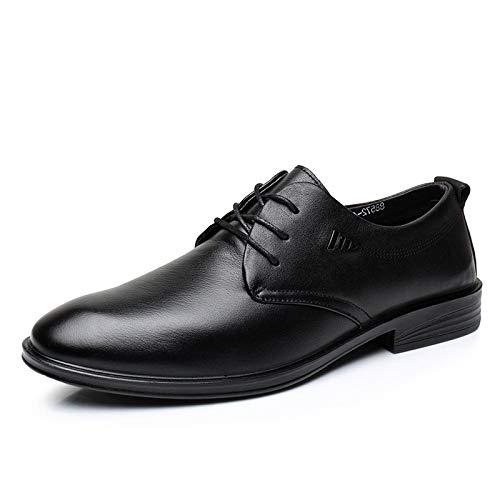 Zapatos De Vestir De Hombre De Negocios Zapatos De Cuero De Moda Apuntables Zapatos Respirables Individuales Black