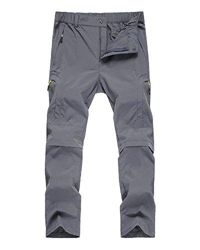 Women's Quick Dry Convertible Cargo Pants #6601F-Grey,XS(27-28)