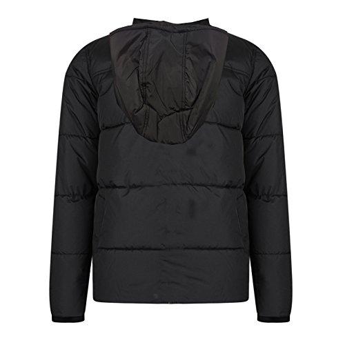 Noir Capuche Threadbare Manteau Éclair Herse Hommes Fermeture Matrix Doudoune Matelassé SpxzFt