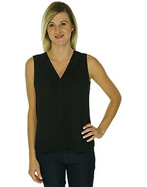 Women's Sleevless V-Neck Blouse