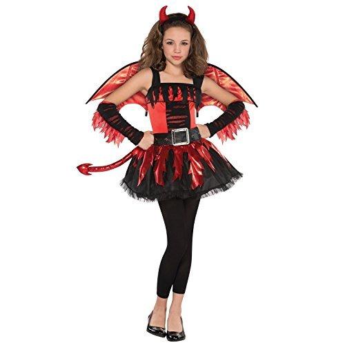 Deluxe Devil Outfit Teens Daredevil Kostüm passt Alter 14-16 jahre mit Flügeln Schwanz und Hupe Stirnband