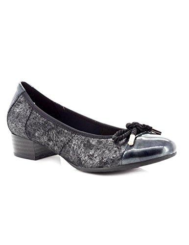 Zapato Pitillos De Lycra Negra 1053 Negro