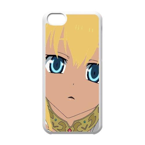 Yeux bleus N1I13 crise dragon fille de cheveux blonds C0B4RQ coque iPhone frange cas de téléphone cellulaire 5c couverture de coque blanche WX9KIV4IC
