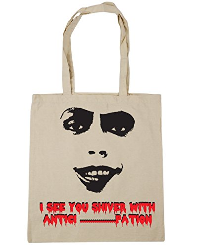 You Bag Frank Beach Antici Silhouette Shiver 42cm x38cm With pation I See Tote N Shopping Furter Gym 10 Natural litres HippoWarehouse Zwx0fEqn