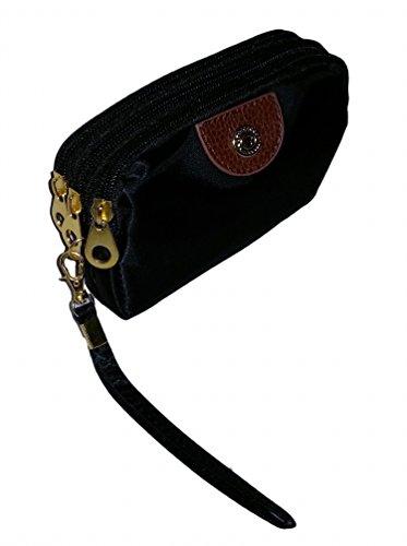Amazon.com: High Fashion 3 Nylon Wallet cierre de cremallera ...