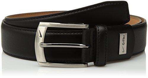 Edge Leather Feather - Nike Men's G-Flex Feather Edge Belt, black 32