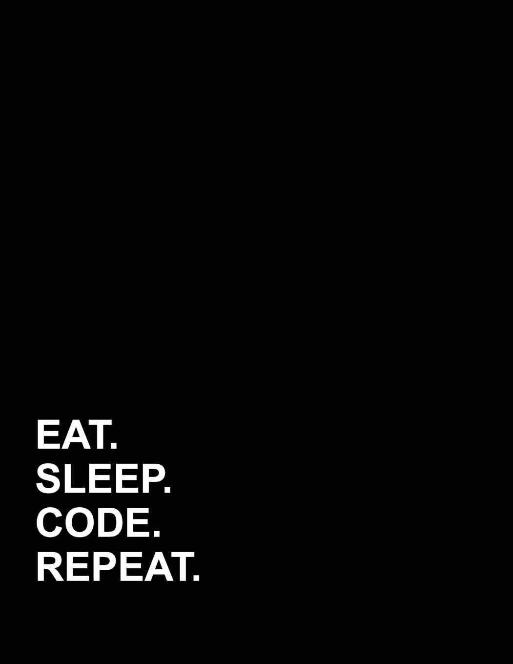 Amazon com: Eat Sleep Code Repeat: Appointment Book 2 Columns
