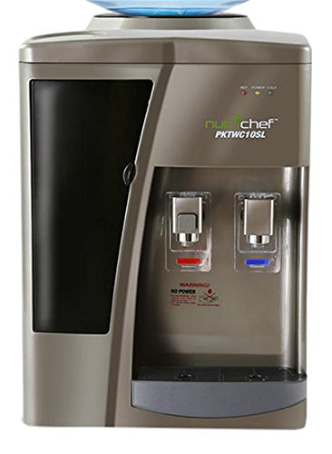 NutriChef AZPKTWC10SL Dispenser Hot and Cold Water Cooler, Silver
