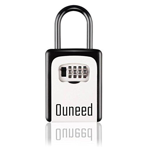 Key Lock Box, Quneed Key Box Storage 5-10 Door Keys,4-Digit Multi-Combination Code, Security Lock Box for House Key and Car Key,Fashion and Useful Lock Boxes !