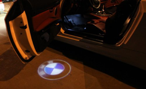 sunsbell night vision bmw car logo door projection led. Black Bedroom Furniture Sets. Home Design Ideas