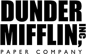 GT Graphics The Office Dunder Mifflin Vinyl Sticker Waterproof Decal