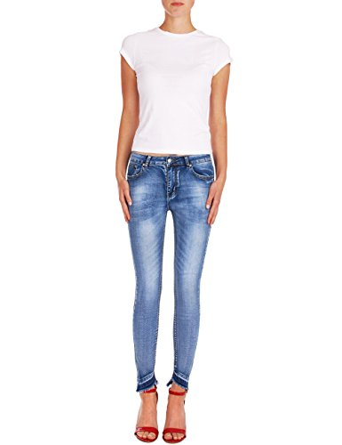 Pitillos Vaqueros Fraternel Pantalones Azul mujer skinny vaUAx4wq