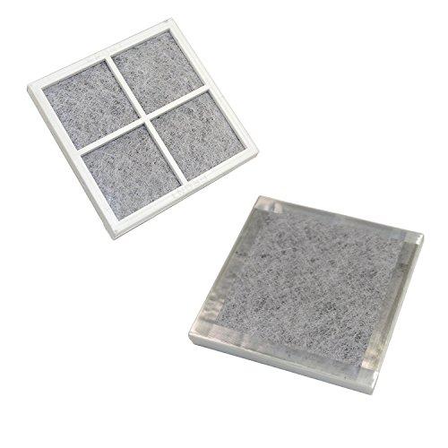 HQRP 2-pack Fresh Air Filter for LG LFX25991ST, LFX28968ST, LFX29927ST, LFX29927SW, LFX29927SB, LFX29945ST, LFX31925ST, LFX31925SW, LFX31925SB Refrigerators + HQRP Coaster