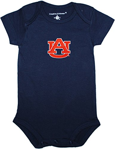 Auburn University Tigers Newborn Baby Bodysuit, Navy, 0-3 Months