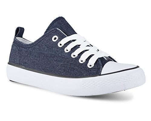 Lo Hunter Denim Top Sneakers Twisted Stylish Womens Canvas RSUwAEBxTq