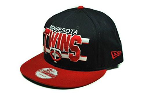 MLB New Era Minnesota Twins Navy Blue-Red Word Stripe 9FIFTY Snapback Adjustable Hat – DiZiSports Store