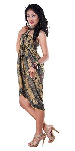 da donne Parang verde Batik tradizionale del mondo per pareo con Sarong 1 Rusak motivo xCqFwY00