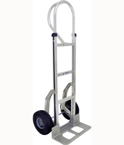 RWM Casters Aluminum Fixed Hand Truck with Dual Grip Vinyl Handle, 8